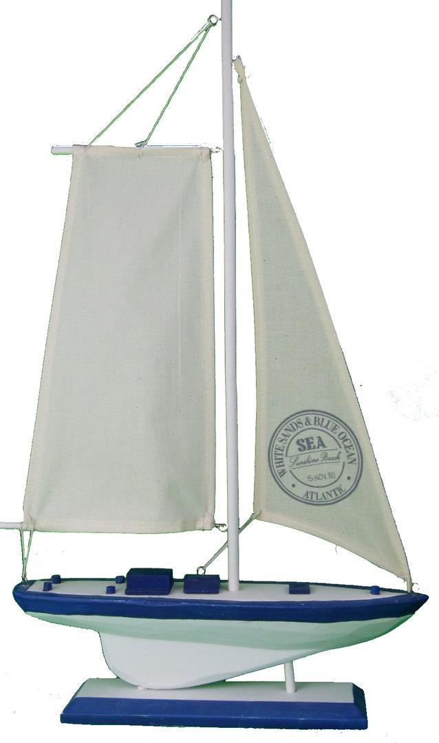 Deko Segelboot Schiff Weiss 1