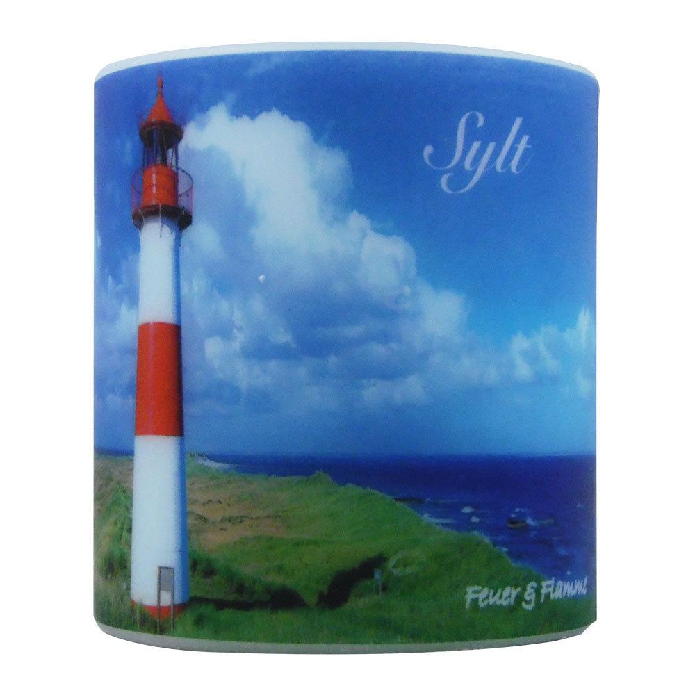 Kerze Sylt -Strand-Leuchtturm
