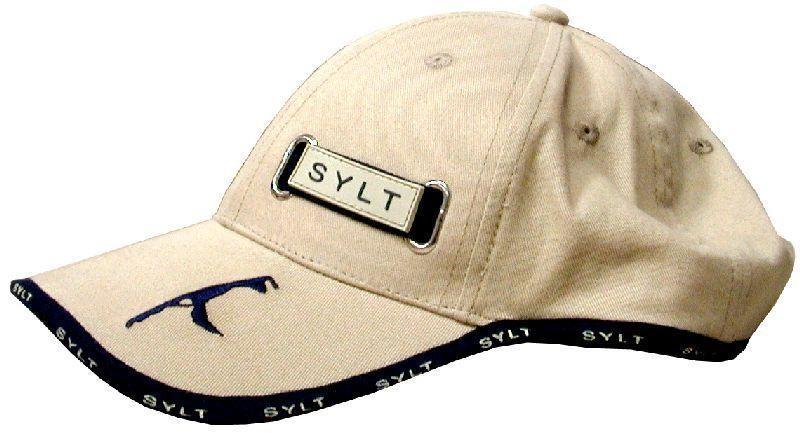 Baseball Cap in beige mit gesticktem SYLT-Logo