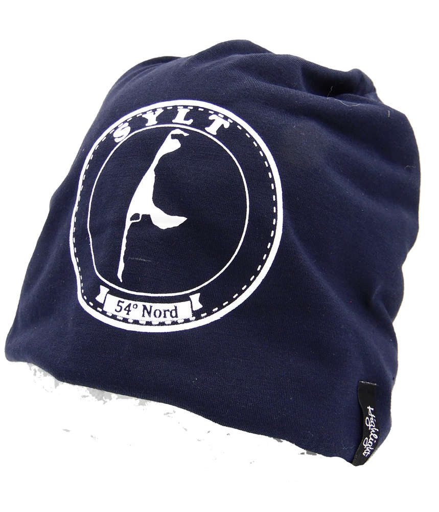 KULTmütze - Schlappmütze in blau mit SYLT-Logo - hochwertig verarbeitet