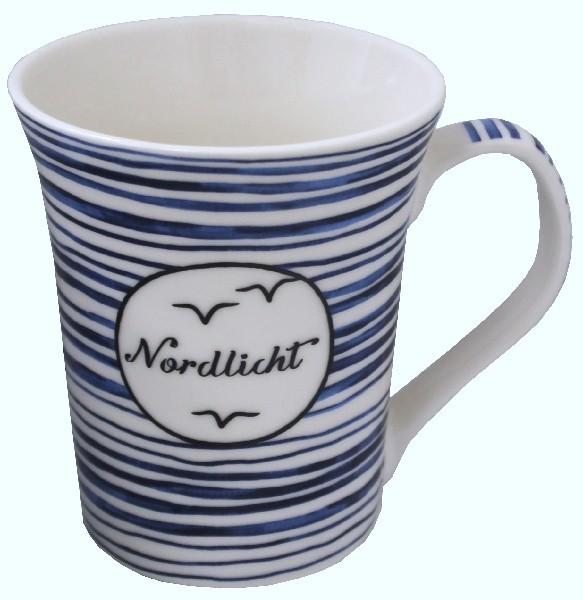 Kaffee-Becher blau/weiss Nordlicht 300 ml